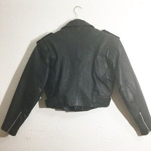 Wilsons Leather Jackets & Coats - Vintage Wilson's Leather Black Moto Jacket